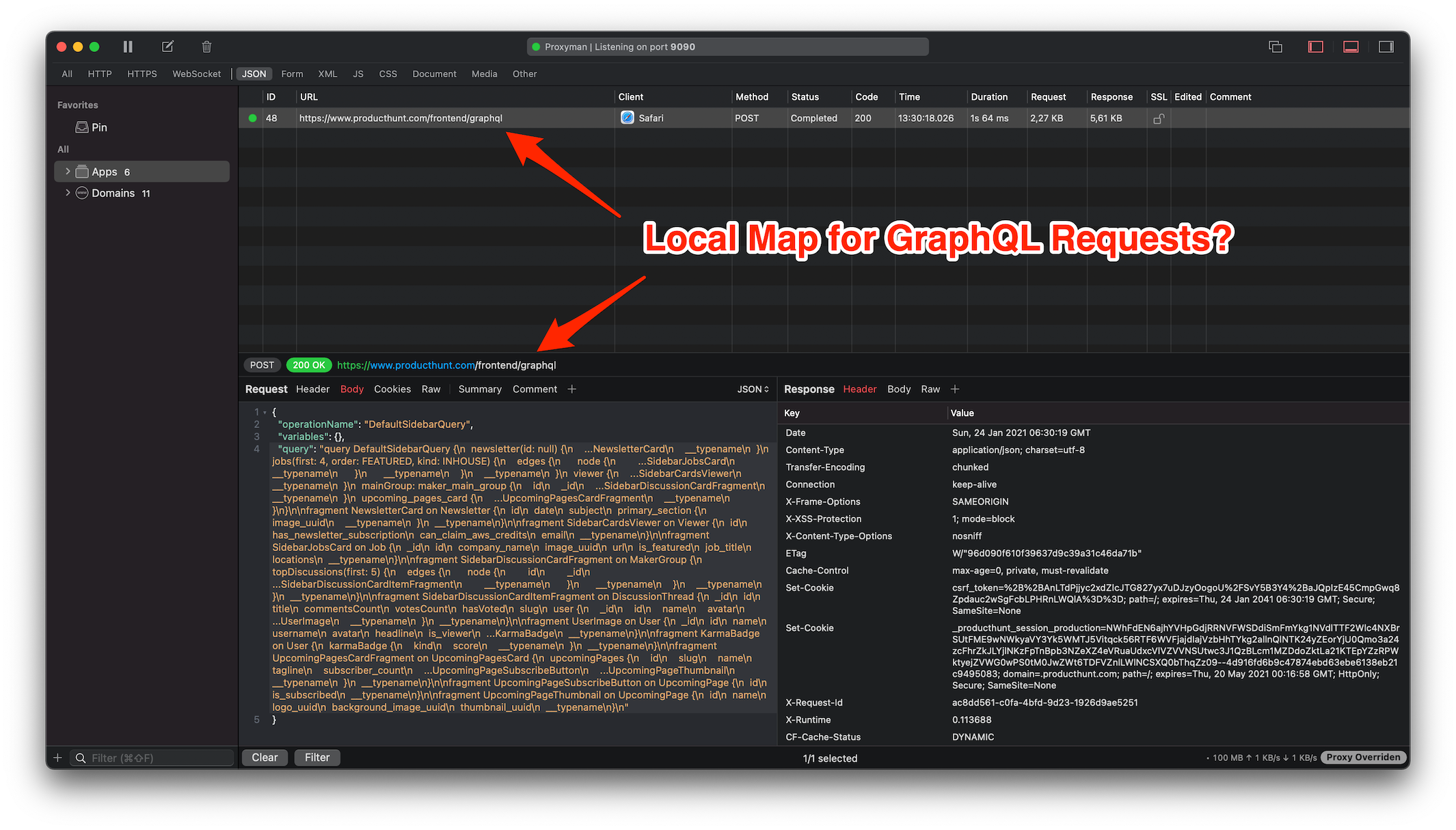Cover Image for How to map a Local Response for GraphQL Requests?