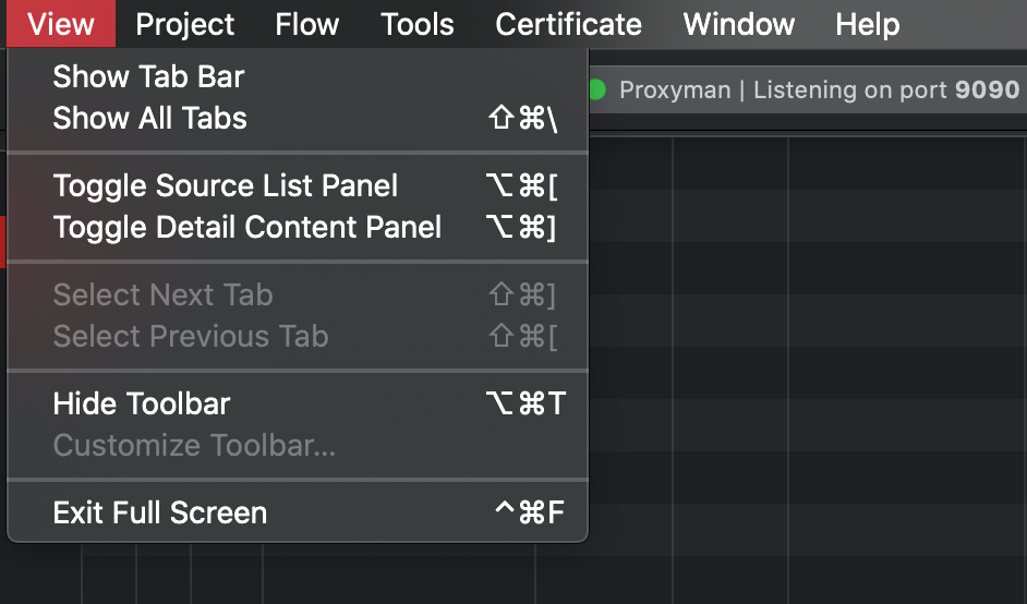 Cover Image for Proxyman keyboard shortcuts