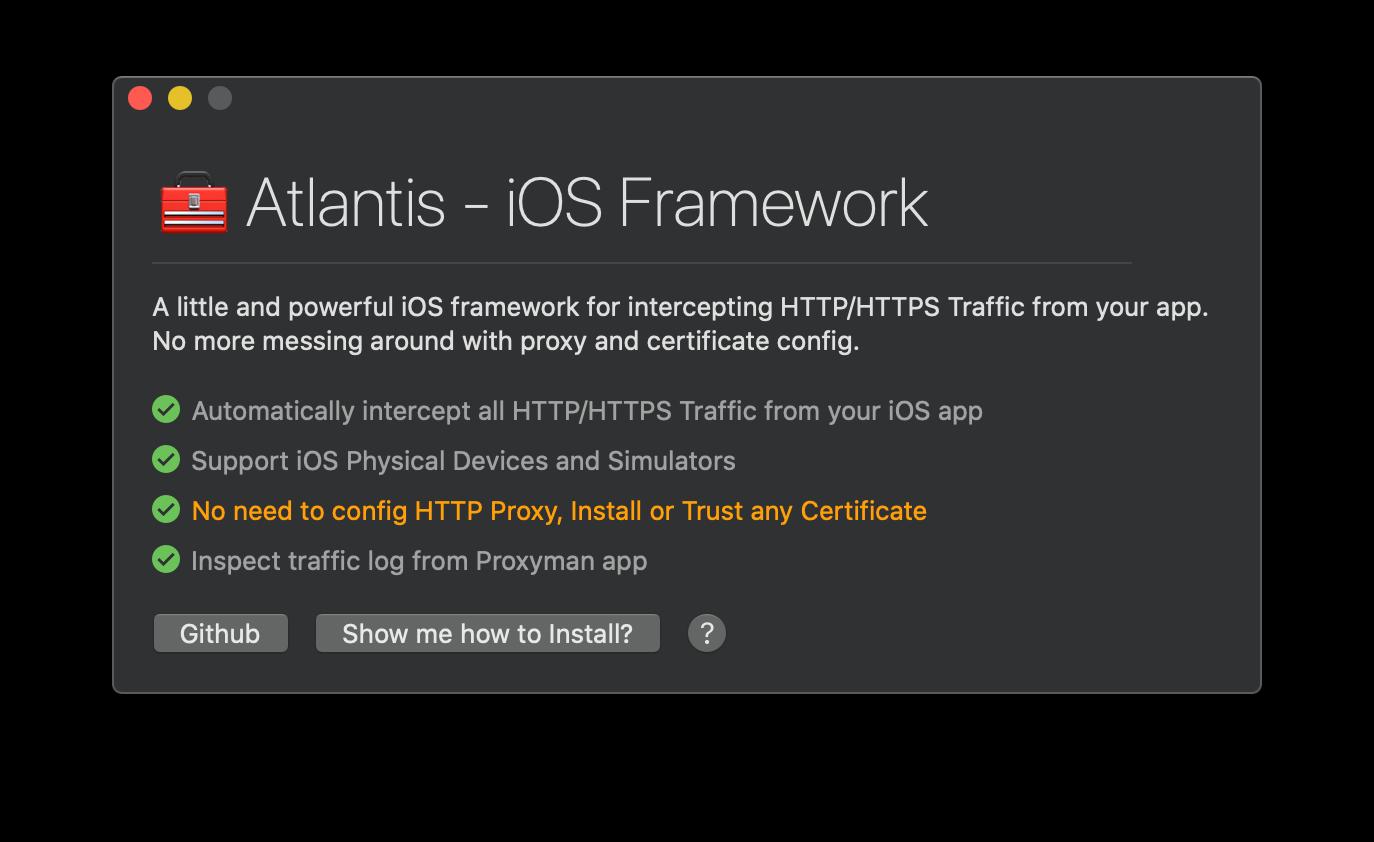 Proxyman with Atlantis Framework